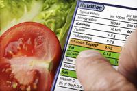 Nutrional Label showing fat content